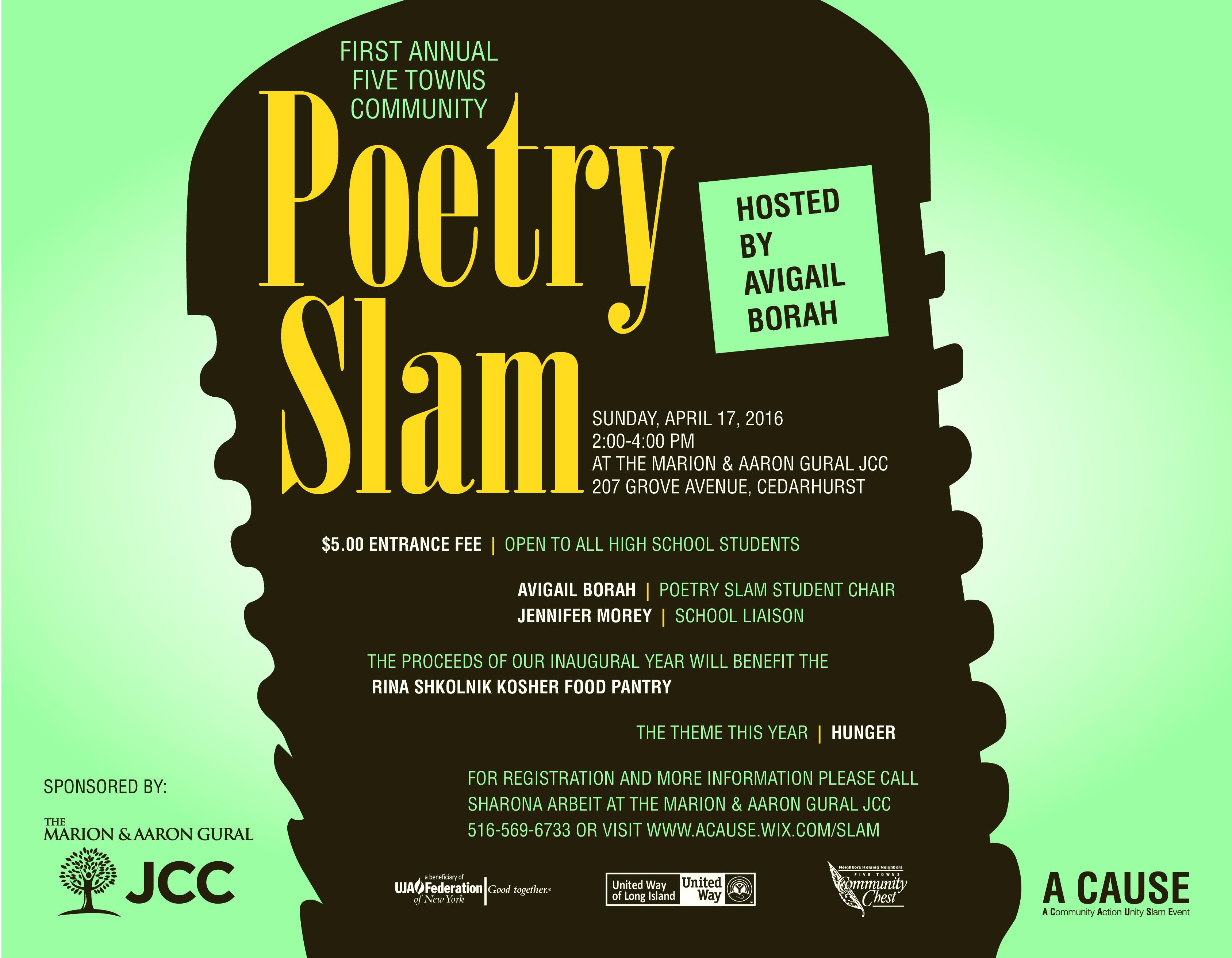 Teen Poetry Slam - The Marion & Aaron Gural JCC